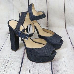 Michael Kors London Platform Sandals -Denim